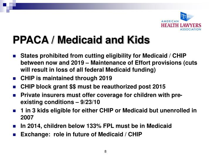 PPACA / Medicaid and Kids