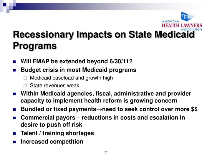 Recessionary Impacts on State Medicaid Programs