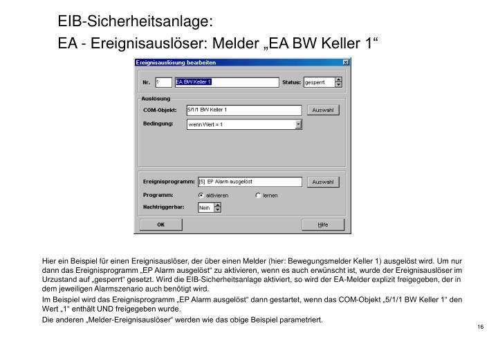EIB-Sicherheitsanlage: