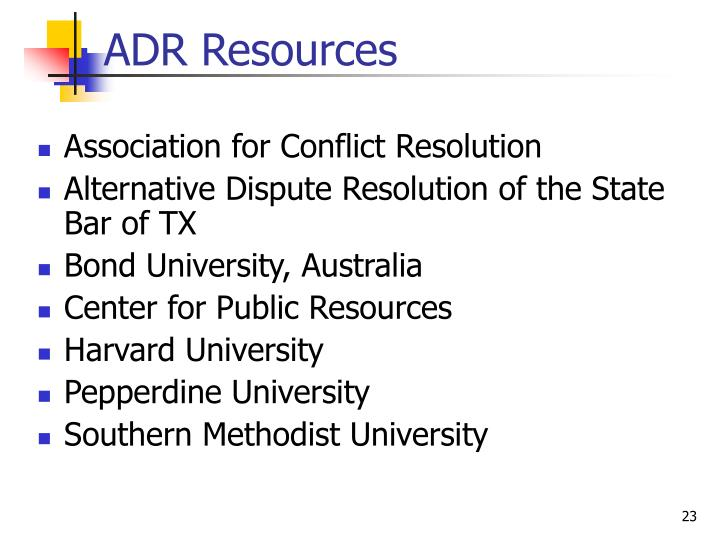 ADR Resources