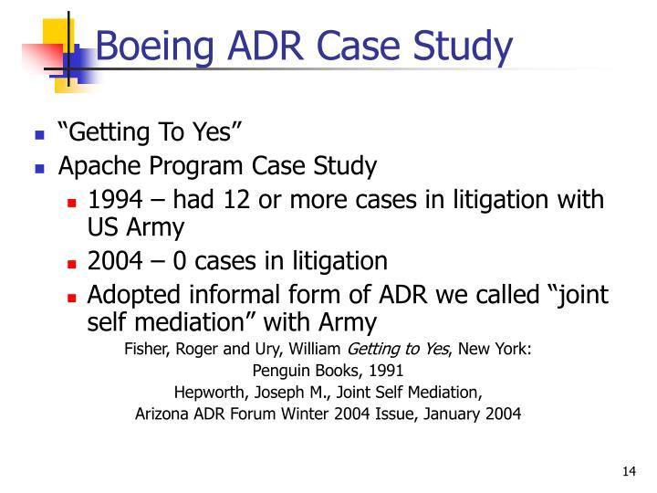 Boeing ADR Case Study