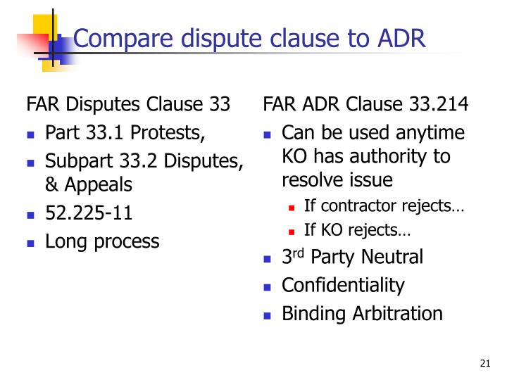FAR Disputes Clause 33