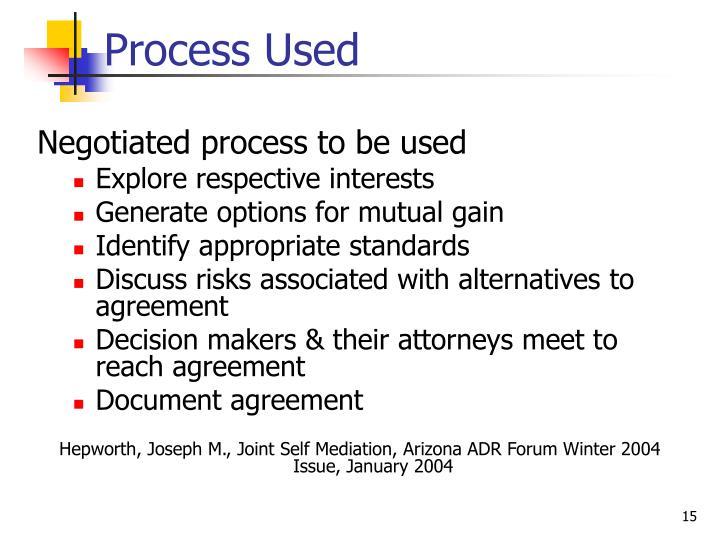 Process Used