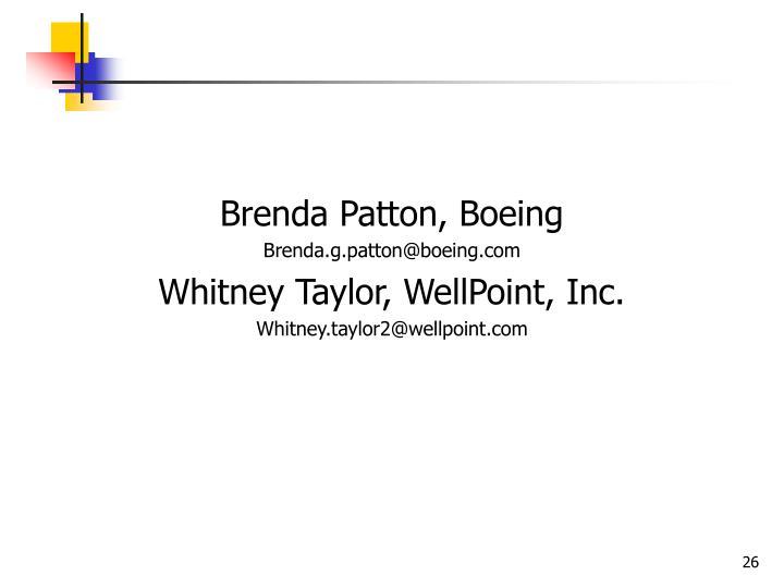 Brenda Patton, Boeing