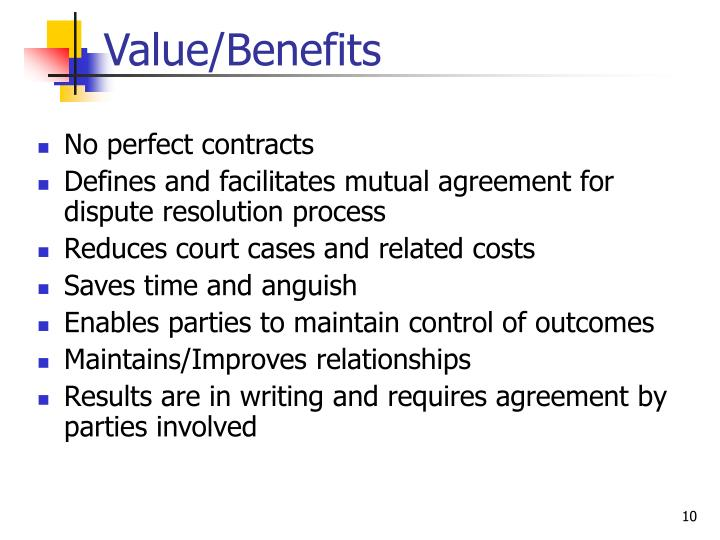 Value/Benefits