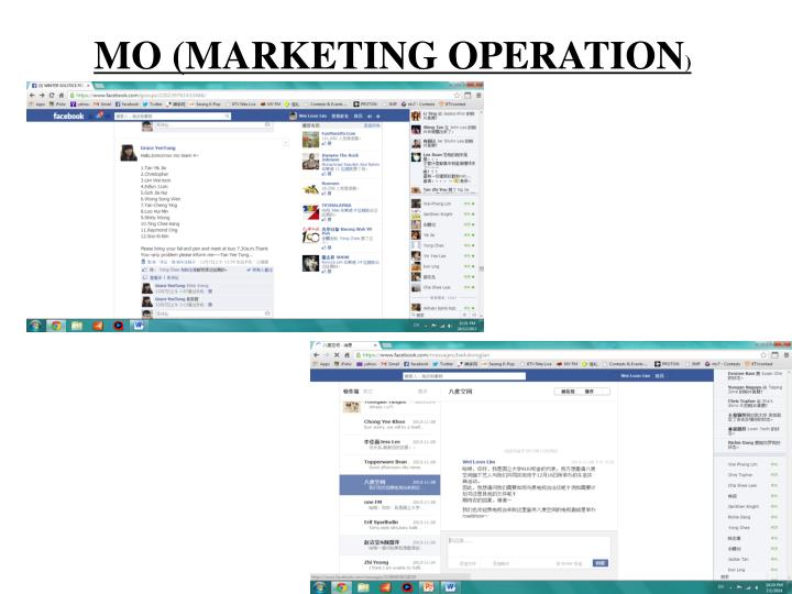 MO (MARKETING OPERATION