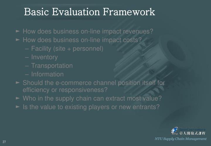Basic Evaluation Framework