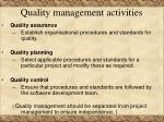 quality management activities