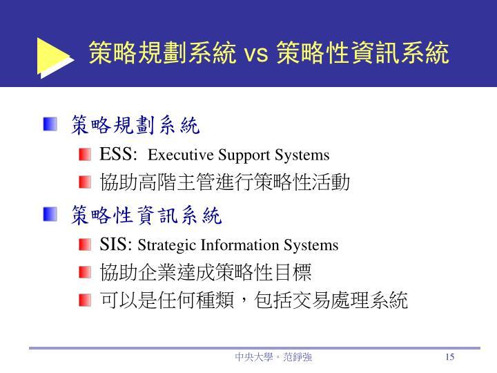 策略規劃系統