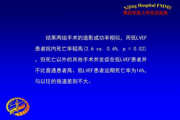 结果两组手术的造影成功率相似,而低