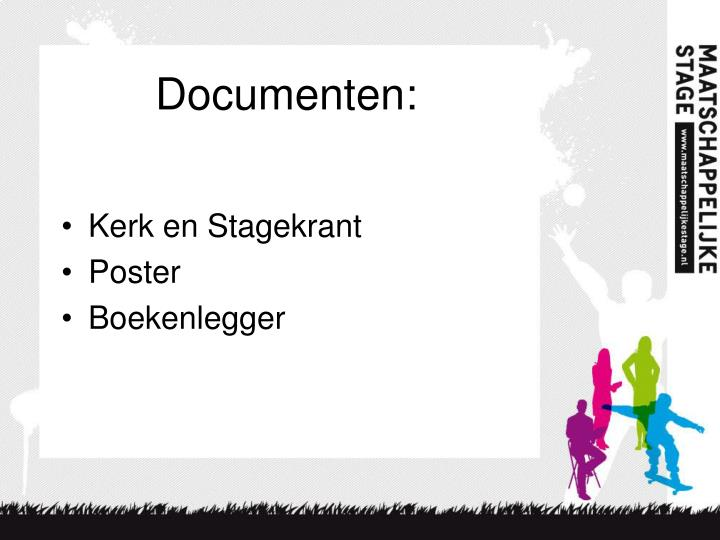 Documenten: