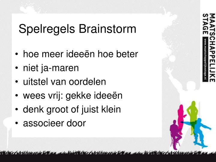 Spelregels Brainstorm
