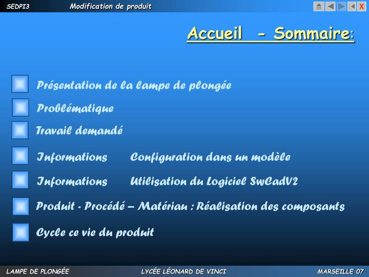 Accueil  - Sommaire
