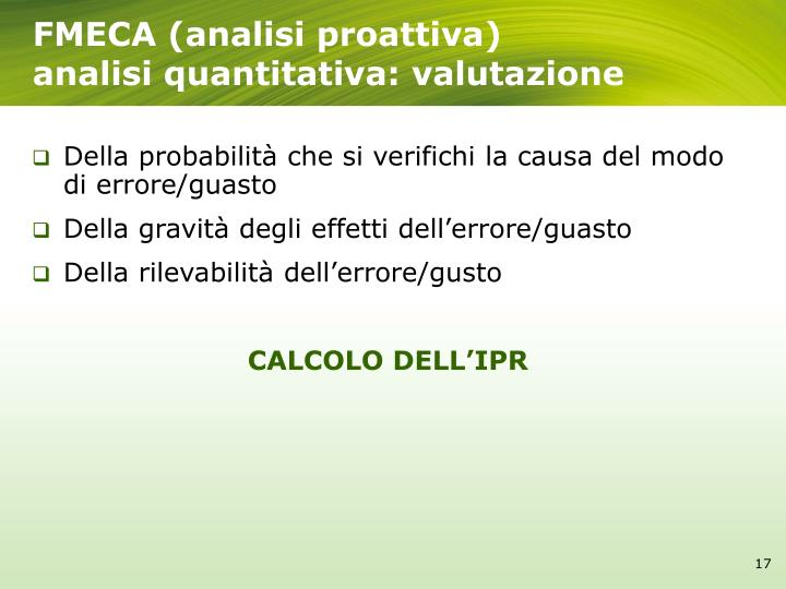 FMECA (analisi proattiva)