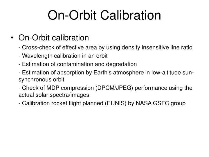 On-Orbit Calibration