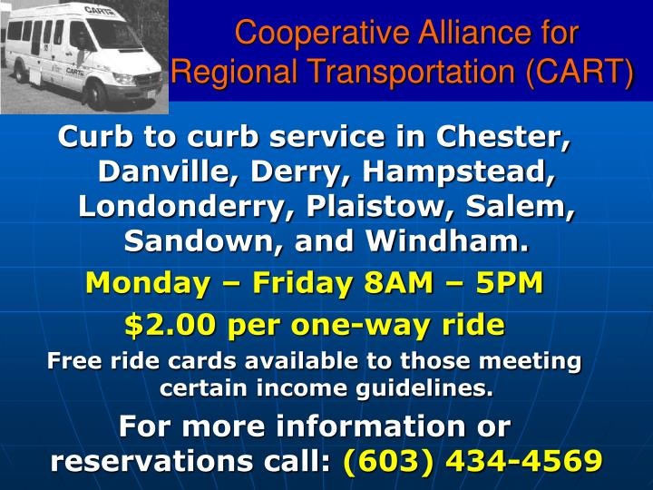 Cooperative Alliance for Regional Transportation (CART)