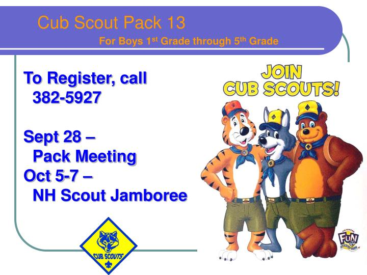 Cub Scout Pack 13