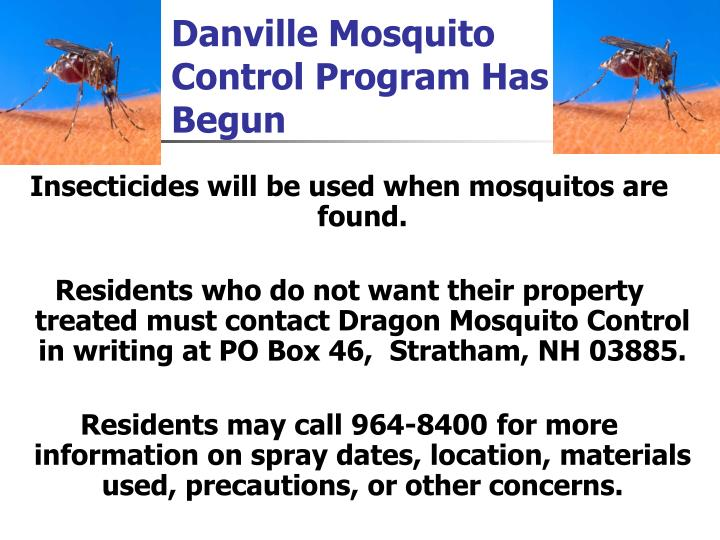 Danville Mosquito Control Program Has Begun