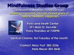 mindfulness studies group