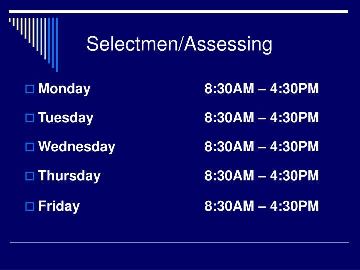 Selectmen/Assessing