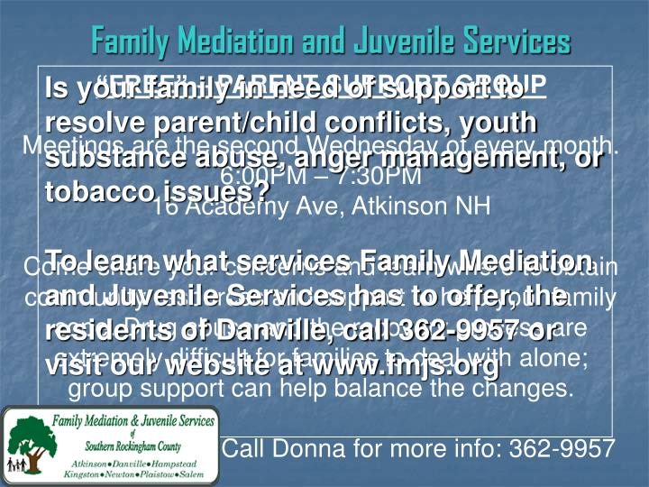 Family Mediation and Juvenile Services