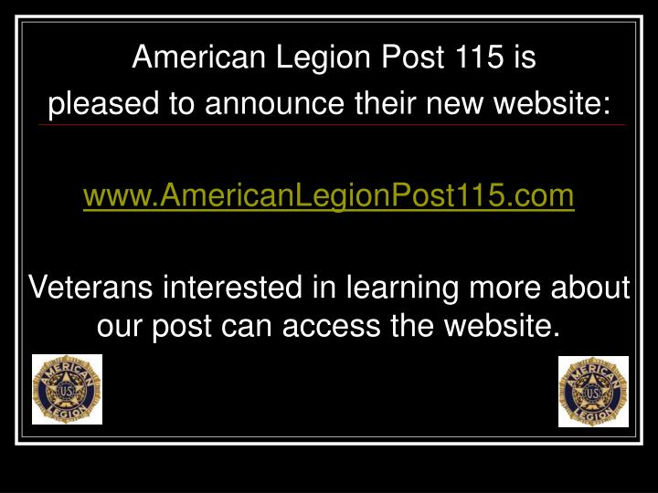 American Legion Post 115 is