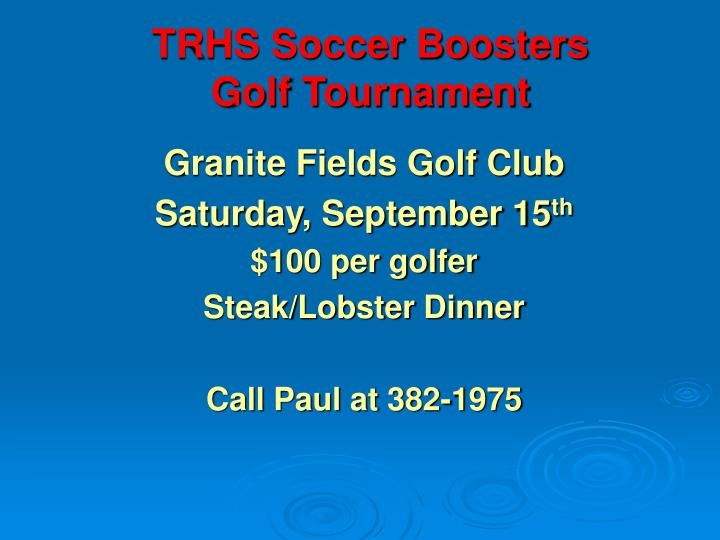 TRHS Soccer Boosters