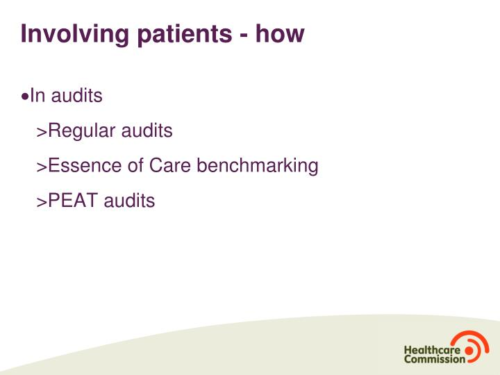 Involving patients - how