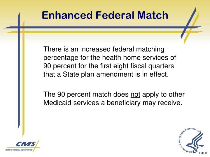 Enhanced Federal Match