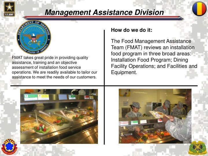 Management Assistance Division