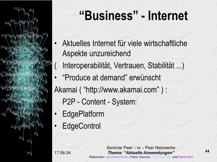 """Business"" - Internet"