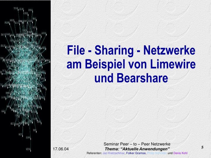 File - Sharing - Netzwerke