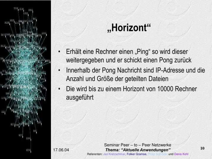 """Horizont"""