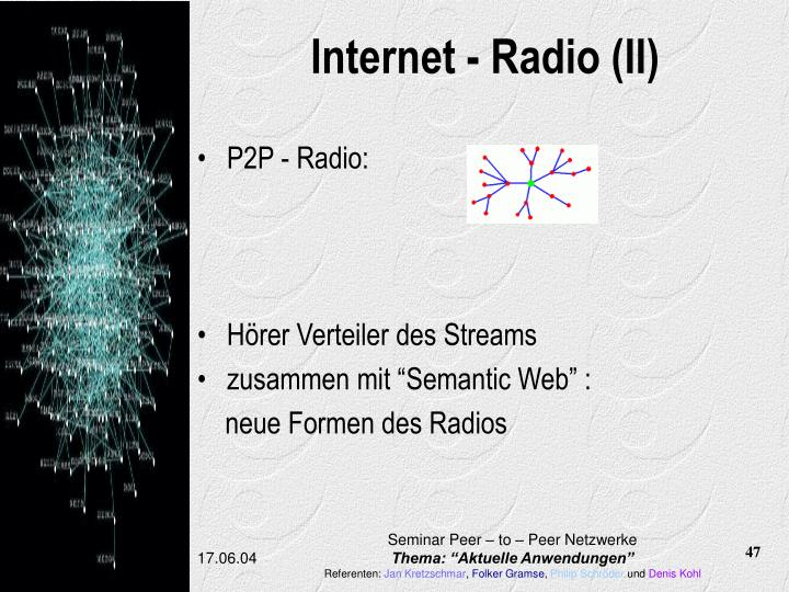 Internet - Radio (II)