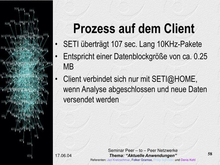 Prozess auf dem Client