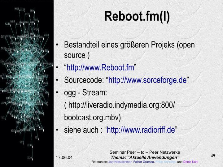 Reboot.fm(I)