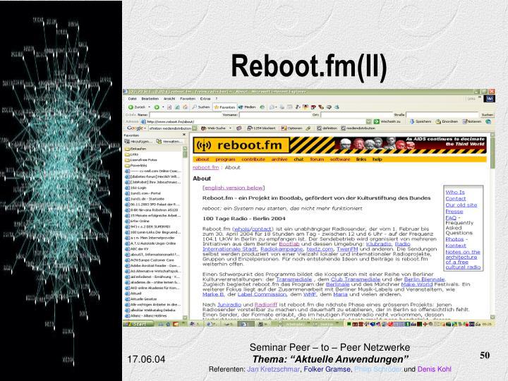 Reboot.fm(II)