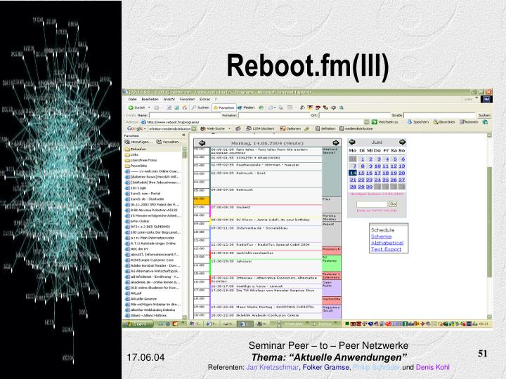 Reboot.fm(III)