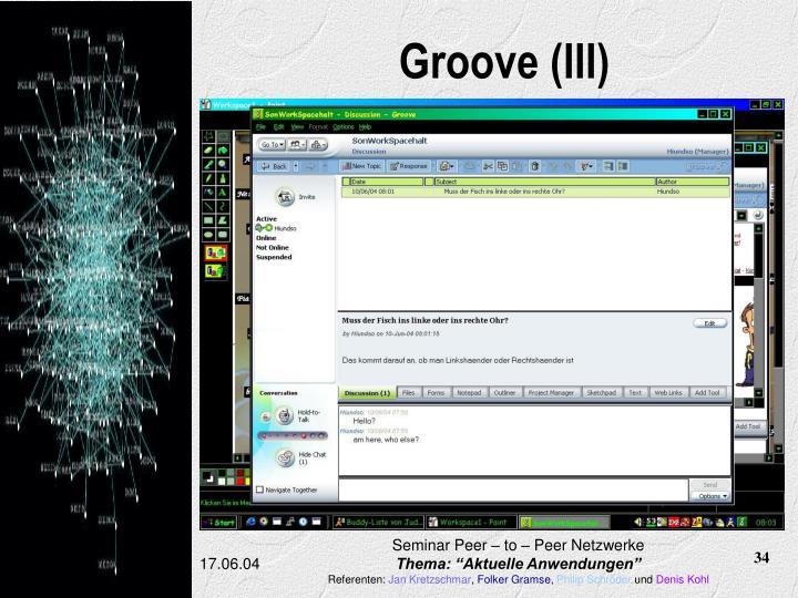 Groove (III)
