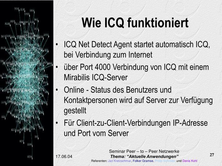 Wie ICQ funktioniert
