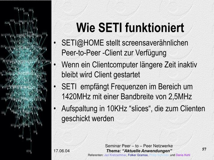 Wie SETI funktioniert