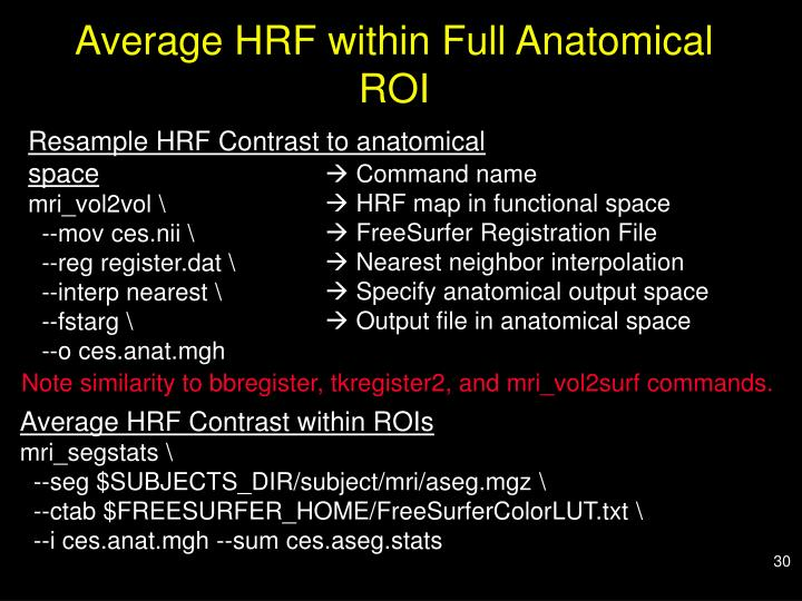 Average HRF within Full Anatomical ROI