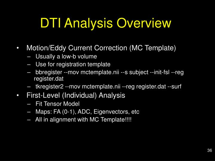 DTI Analysis Overview