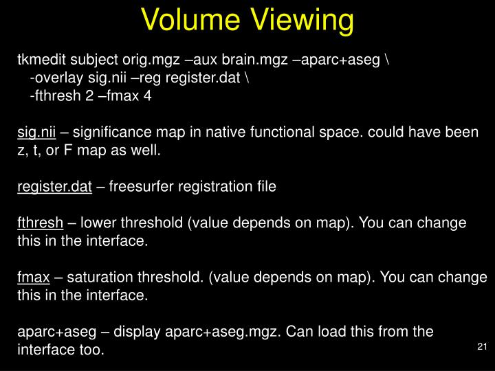 Volume Viewing