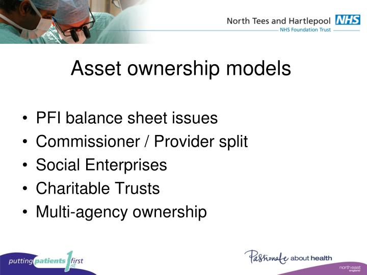 Asset ownership models