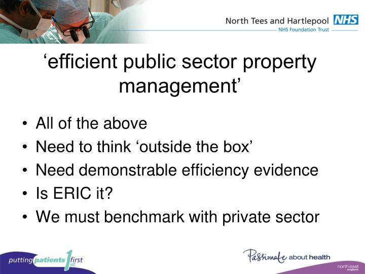 'efficient public sector property management'