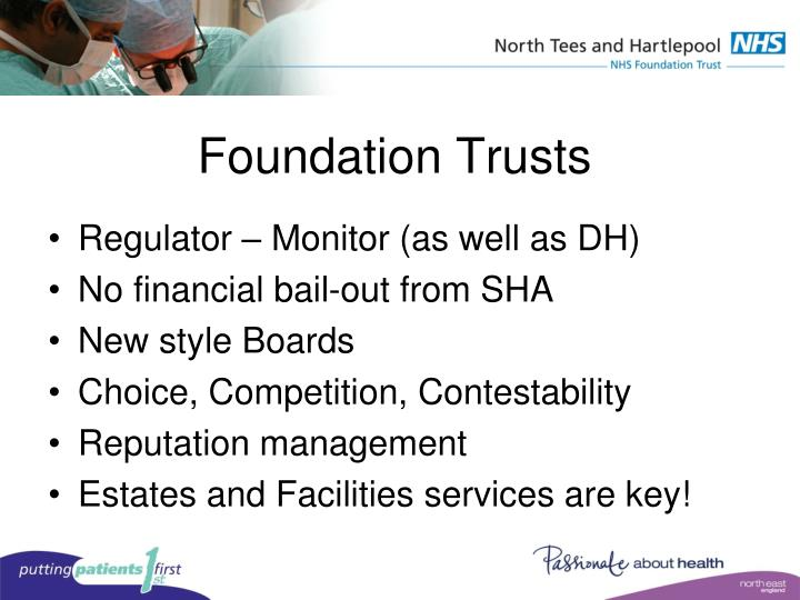 Foundation trusts