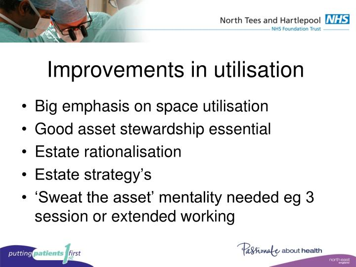 Improvements in utilisation