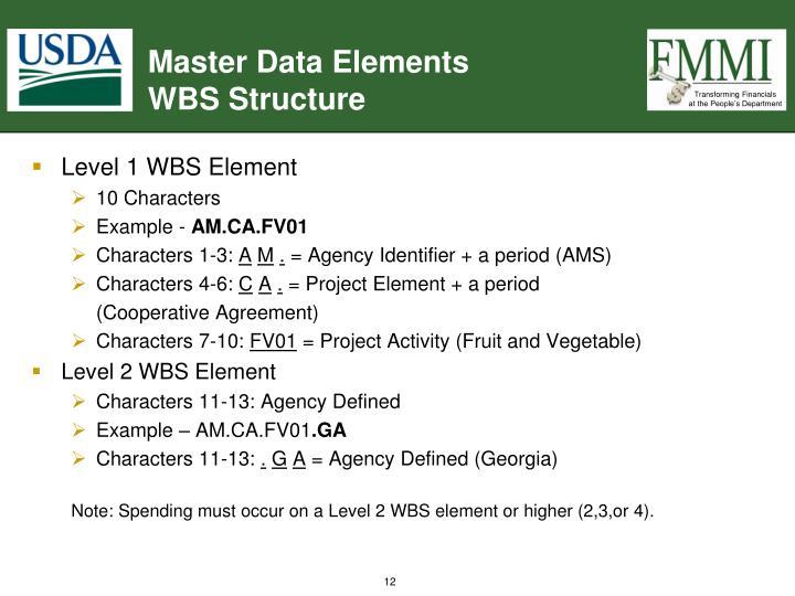 Master Data Elements