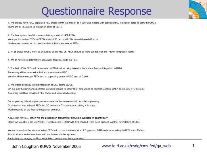 Questionnaire Response